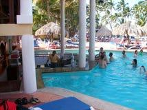 Een gang verspert omhoog in de Dominicaanse Republiek Dit type van bar is gemeenschappelijk bij de verschillende toevlucht in pun Royalty-vrije Stock Afbeelding