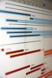 Een Gantt grafiek is een type van staaf Stock Foto's