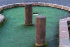 Een Geïsoleerd Gek Golfgat royalty-vrije stock foto