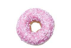Een geïsoleerde doughnut Stock Foto's