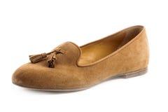 Een geïsoleerde elegantie vrouwelijke schoenen Stock Foto's