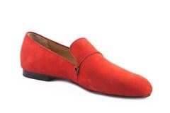 Een geïsoleerde elegantie vrouwelijke schoenen Stock Afbeelding