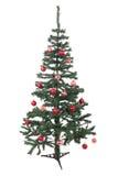 Een geïsoleerdei Kerstboom Stock Fotografie