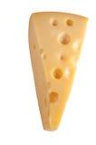 Een geïsoleerdel kaas Royalty-vrije Stock Foto's