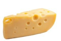 Een geïsoleerden kaas Stock Afbeelding