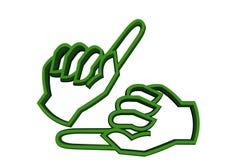 Een gebaar vector illustratie
