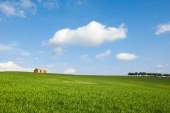 Een gebied met een landbouwbedrijf Stock Afbeeldingen