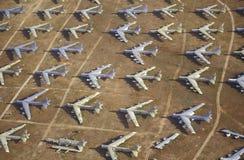 Een Gebied van B-52 Vliegtuigen, Davis Montham Air Force Base, Tucson, Arizona stock afbeelding
