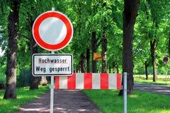 Een geblokkeerde weg Stock Afbeelding