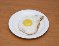 Een gebraden ei stock afbeelding