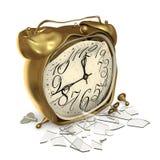Een gebroken klok Stock Foto