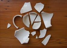 Een gebroken mok Stock Fotografie