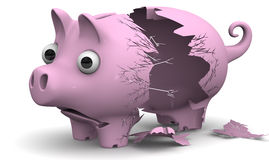 Een gebroken varkensspaarvarken Royalty-vrije Stock Foto