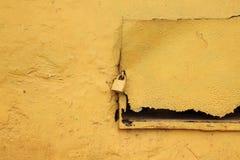Een geel slot Stock Fotografie
