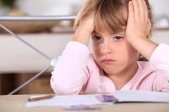 Een gefrustreerd jong meisje Stock Afbeelding