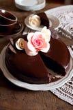 De donkere cake van de Chocolade Royalty-vrije Stock Fotografie