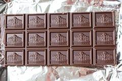 Een gehele tegel van donkere chocolade Royalty-vrije Stock Foto's