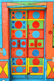 Een Gekke Gekleurde Deur in Burano, Venetië Stock Afbeelding