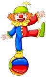Een gekleurde schets van een clown Stock Afbeeldingen