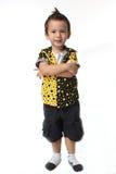 Een gekruiste jongen bewapent Stock Afbeelding