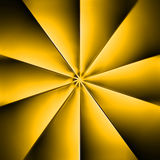 Een gele ventilator op een donkere achtergrond Royalty-vrije Stock Afbeeldingen