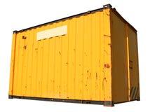 Een gele vrachtcontainer. Stock Foto