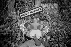 Een gelukkig Halloween-teken voor de vakantie Stock Fotografie