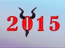 Een gelukkig nieuw jaar in elf verschillende talen Stock Foto