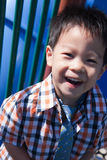 Een gelukkige jonge jongen royalty-vrije stock foto