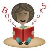 Een gelukkige jonge jongen en zijn boek Royalty-vrije Illustratie
