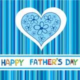 Een gelukkige kaart van de Vaderdag. Stock Foto
