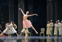 Een gelukkige prinses Clara-The Ballet Nutcracker stock afbeeldingen