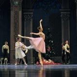 Een gelukkige prinses Clara-The Ballet Nutcracker stock foto