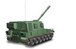 Een gemotoriseerde artillerie Stock Fotografie