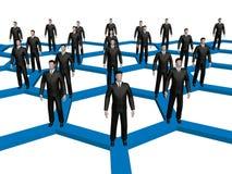 In een genetwerkte menigte vector illustratie