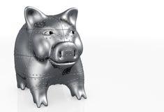 Piggy het varken wordt gemaakt van staal Royalty-vrije Stock Fotografie