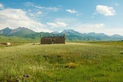 Een Geruïneerd Graf in Kyrgyzstan Royalty-vrije Stock Foto's