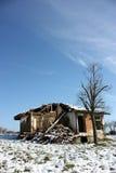 Een geruïneerd huis Royalty-vrije Stock Afbeeldingen