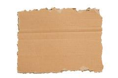 Een gescheurd Leeg Geïsoleerdh Stuk van Karton XXXL Stock Afbeelding