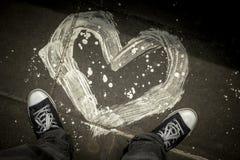Een geschilderd hart Stock Foto