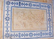 Een Gesierd Plafond in Amer Palace, Jaipur, Rajasthan, India royalty-vrije stock fotografie