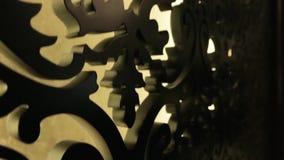 Een gesneden houten patroon stock videobeelden
