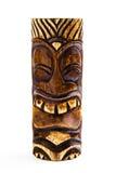 Een gesneden Houten Tiki Royalty-vrije Stock Afbeelding