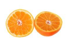 Een gesneden sinaasappel Royalty-vrije Stock Foto