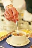 Een geurige koffie is een groot dagbegin Stock Foto