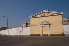 Een gevangenis in Siedlce Stock Foto's