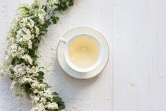 Een gevoelige uitstekende kop rozen Vlak leg Royalty-vrije Stock Afbeeldingen
