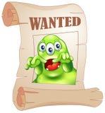 Een gewild drie-eyed monster in een affiche Royalty-vrije Stock Afbeelding