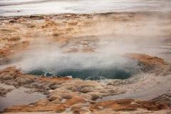 Een geysir in IJsland Stock Foto