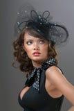 Een gezicht door het Web. Royalty-vrije Stock Afbeelding